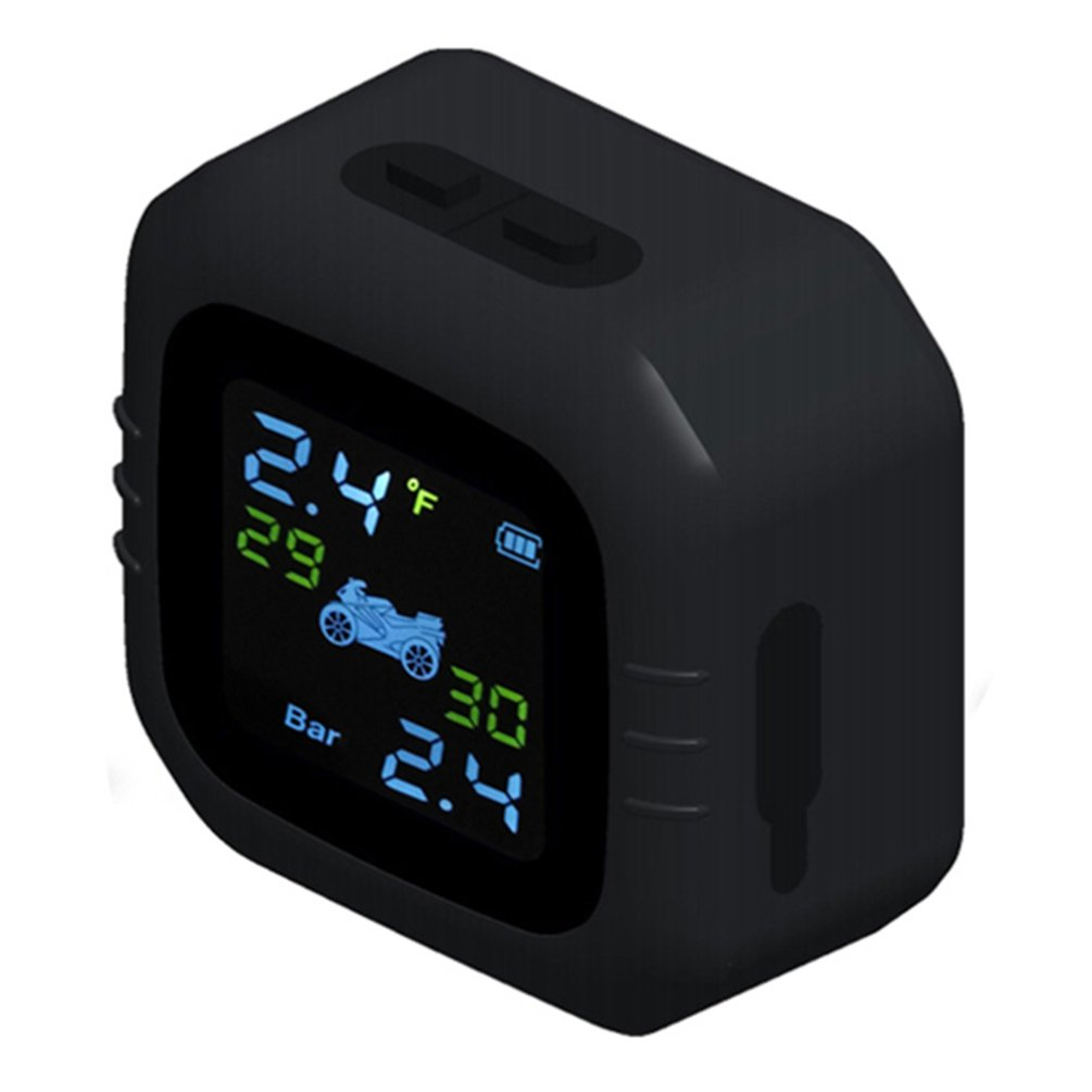Motorcycle Waterproof Real Time Tpms Wireless Tire Pressure Monitoring System Internal Or External Lcd Display Th Wi Sensors