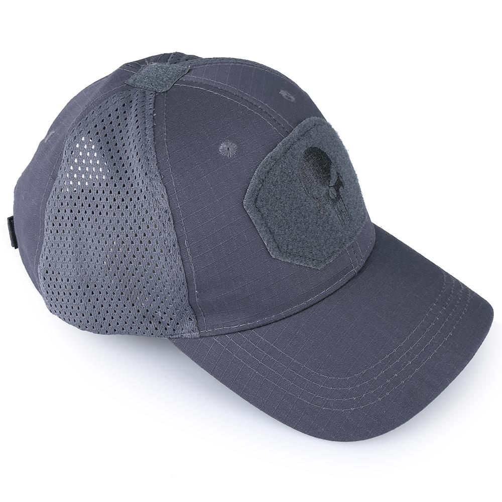 Skull Tactical Military Airsoft Cap Adjustable Breathable Sun Visor Trucker Hat Mesh Hunting Hiking Baseball Skeleton Snapback 31