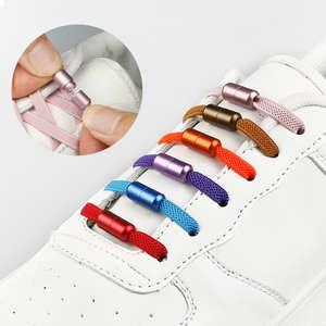 Shoelaces Elastic-Shoe Women Special Rubber for Lacing Zapatillas 11-Colors Metal-Lock