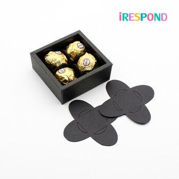 Bandeja DIY para dulces y Chocolate, cuadrícula de papel para envolver recuerdos de fiesta de San Valentín, dulces decorativos