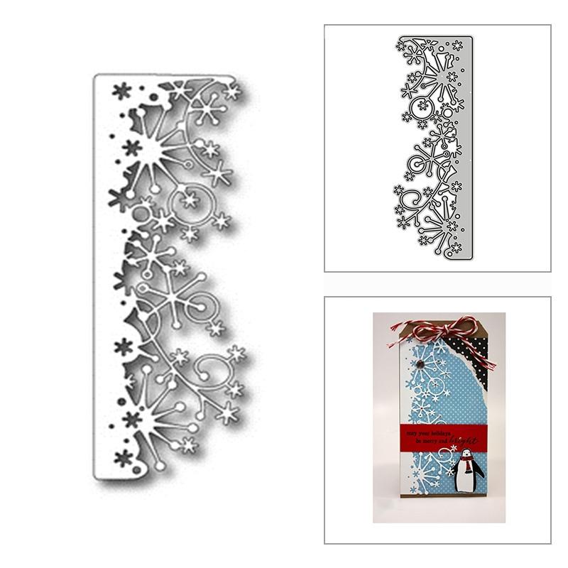 Новые рождественские снежинки 2020 металлические Вырубные штампы для скрапбукинга «сделай сам» украшение и изготовление карт тиснение реме...