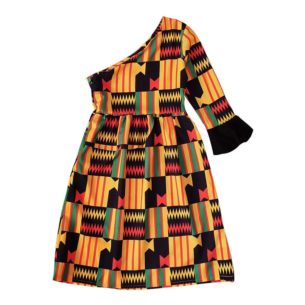 Toddler Kids African Attire Ethnic Dashiki Print Tutu African Skirt Headband 2Pcs Clothing Sets