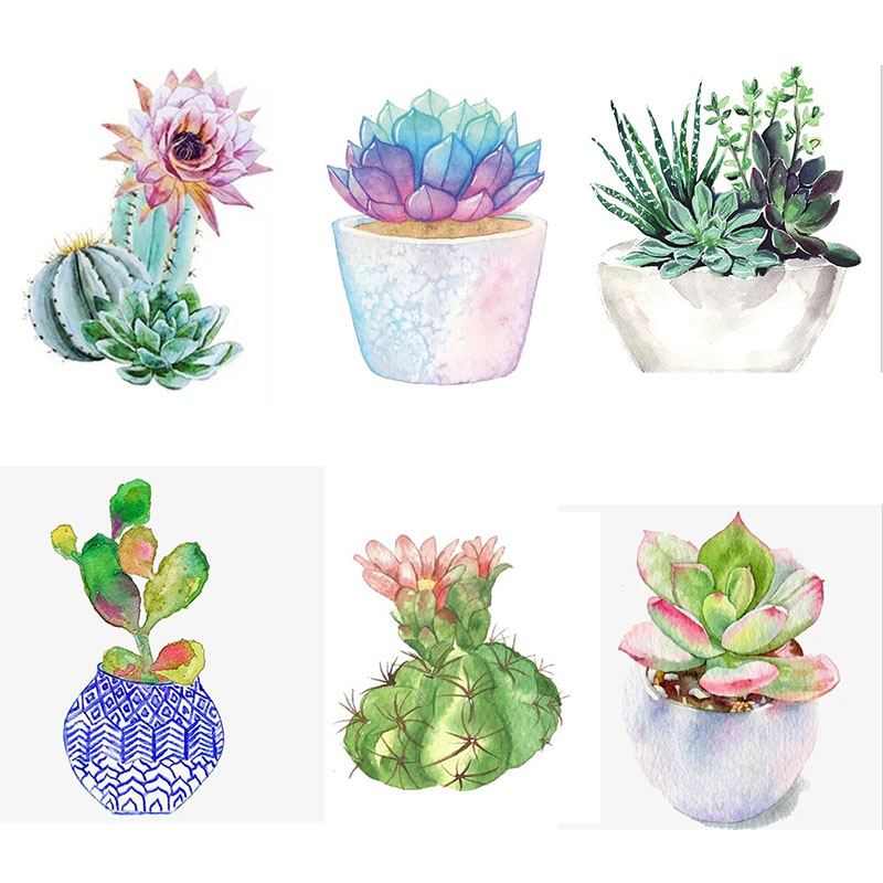 5D DIY Diamond Painting Full Square Flower Plants Handmade Gift Embroidery Full Display Succulent Home Decoration Painting Art image