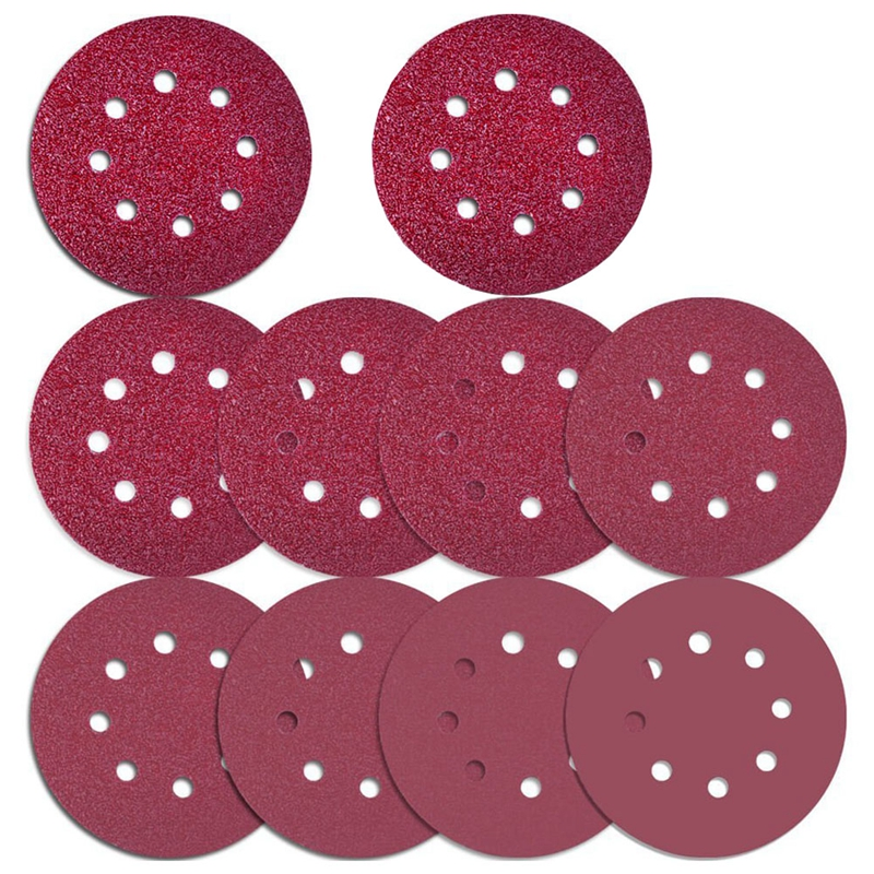 76 Pcs 8 Holes Sanding Discs, 5 Inch Hook And Loop Include 40/ 60/ 80/ 100/ 120/ 180/ 240/ 320/ 400/ 800Grit Sandpaper For Rando