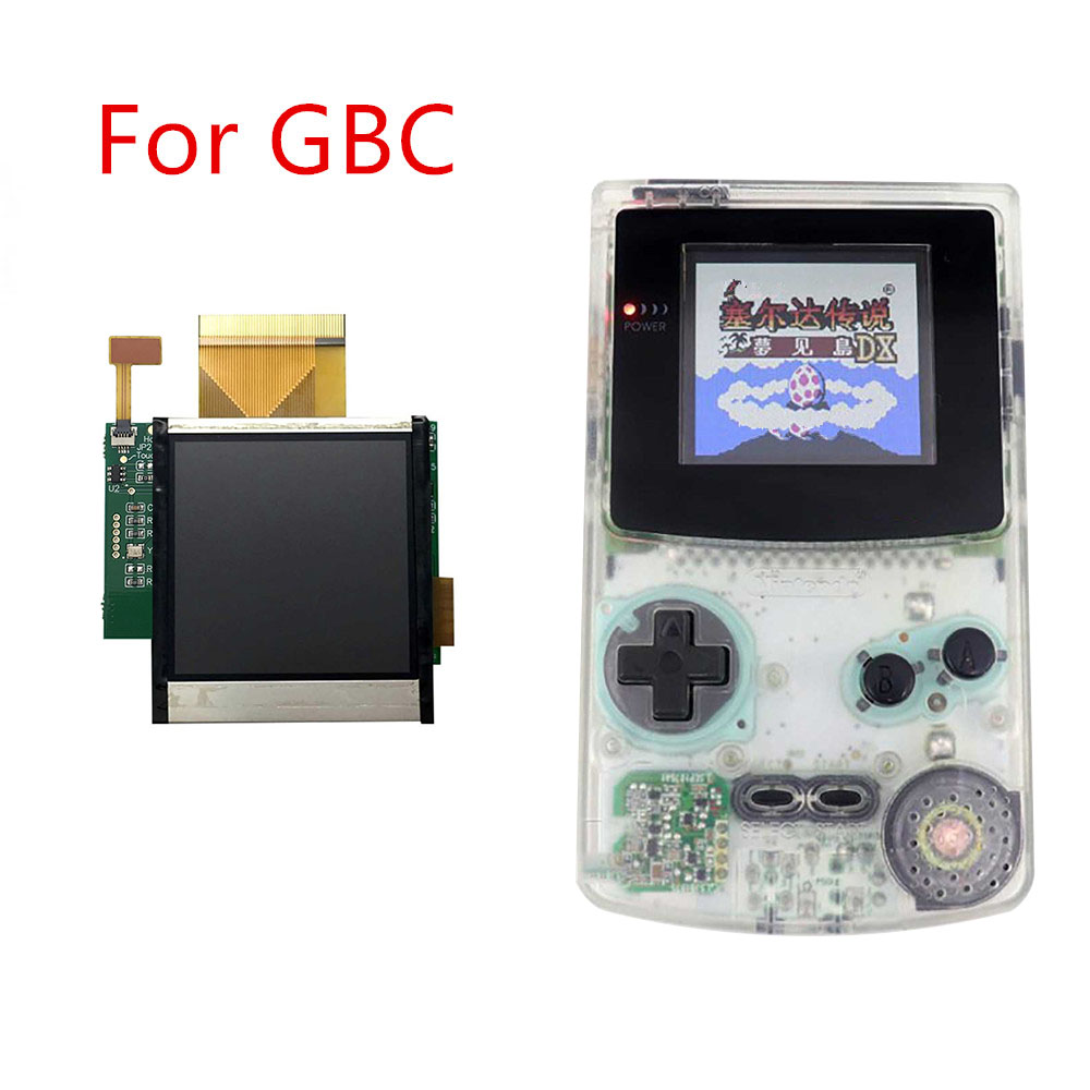 Replacement For Nintend GBC High Light Screen LCD Modification Kit Accessories For GBC 5 Segment Adjustable Brightness Screen