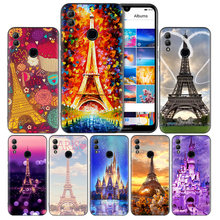 France Paris And Castle Silicone Case for Huawei Honor 8X 8C 8A 8S 9X 10 20 20i V20 Y5 Y6 Y7 Y9 Play Lite Pro Prime 2018 2019(China)