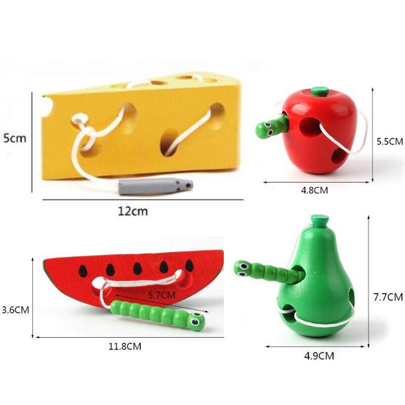 Деревянные игрушки резьбы насекомые едят фрукты лабиринт игрушечная деревянная головоломка просвещение игра Секс игрушки для малышей и де...