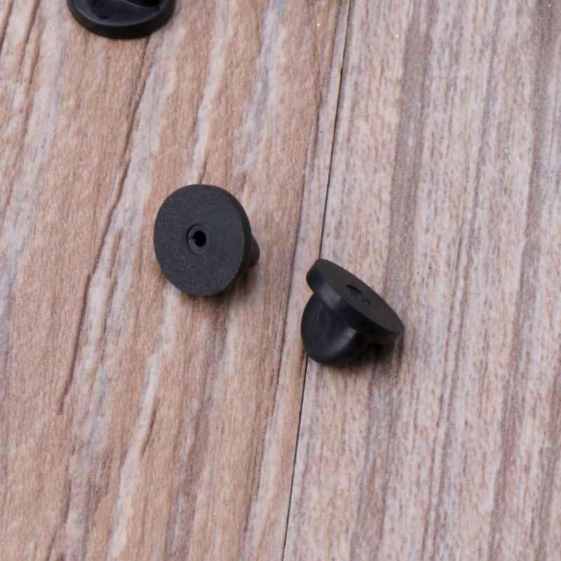 100Pcs PVC Gomma Spille Spalle Comfort Fit Tie Tack Risvolto Spille Supporto Supporto Catenacci