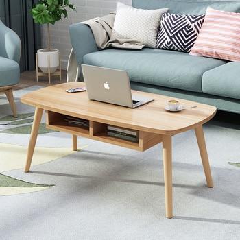 Multifunctional Living Room Tea Table Economic Type Small Apartment Coffee Table Nordic Mini Small Tea Table Simple Solid Wood