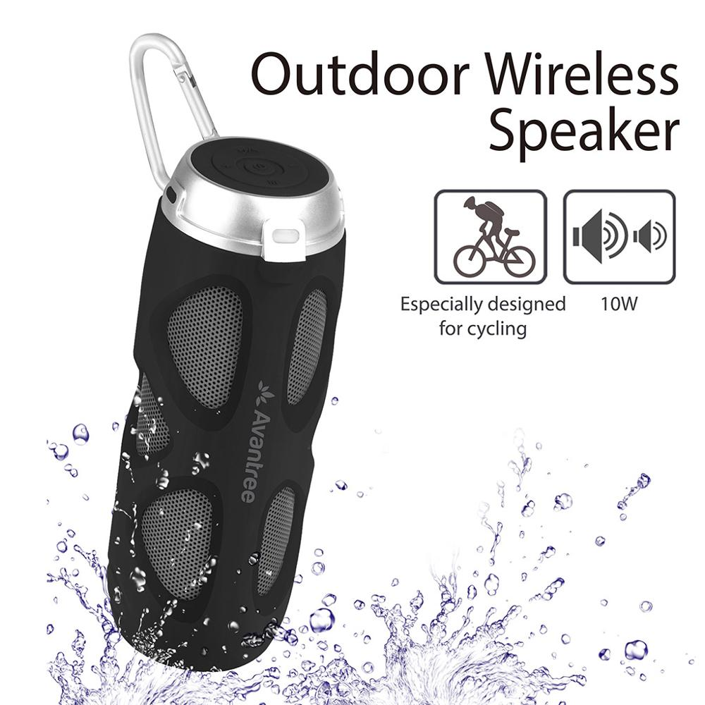 Avantree WP400 Portable Bluetooth 5.0 <font><b>Bike</b></font> <font><b>Speaker</b></font> with Bicycle <font><b>Mount</b></font> & SD Card Slot, 10W Powerful Enhanced Bass & Wireless NFC image