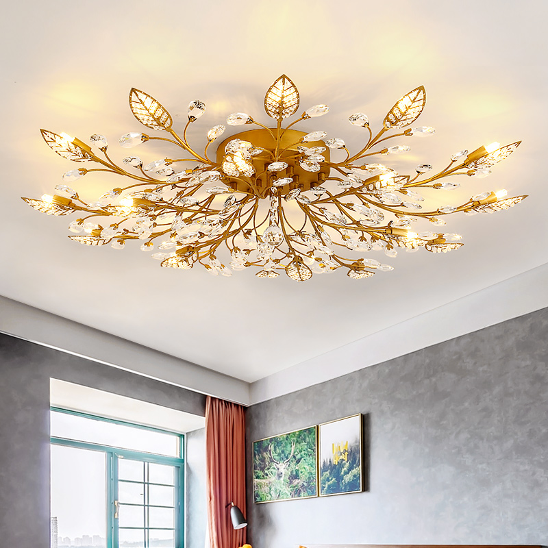 Modern LED Luster Crystal Chandelier Indoor Lighting Ceiling Chandeliers  Cristal For Living Room Bedroom Kitchen Fixture Lights