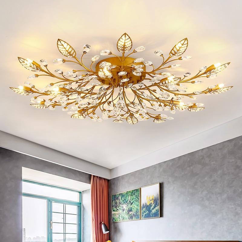 Modern LED Lusters Crystal Chandelier Indoor Lighting Ceiling Chandeliers Cristal For Living Room Bedroom Kitchen Fixture Lights