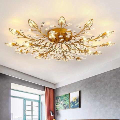 moderno led lustre de cristal iluminacao interior lustres teto para sala estar quarto cozinha luminaria