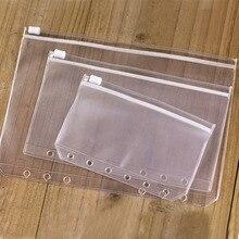 A7-File-Holders Leaf-Pouch Filing-Product-Binder Transparent Zipper Standard A5 PVC