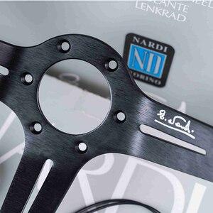 Image 5 - Volanti universali da 14 pollici in pelle ND Auto Racing e pomello del cambio volante sportivo alla deriva con mais profondo con Logo