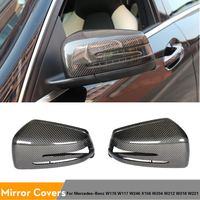 Carbon Fiber Replacement Car Side Mirror Covers Rearview Mirror Caps For Mercedes Benz W176 W117 W246 X156 W204 W212 W218 W221
