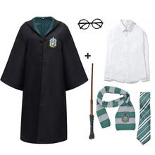 Halloween dorosłych dzieci Potter Cosplay szata hermiona koszula akcesoria mundurek szkolny szata Potter kostium Cosplay hermiona płaszcz tanie tanio CN (pochodzenie) Wykop Film i TELEWIZJA Unisex Zestawy harris Poliester Kostiumy