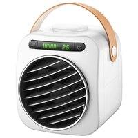 Usb mini condicionador de ar portátil umidificador purificador led digital display temperatura desktop ventilador de refrigeração ar ventilador refrigerador de ar para|  -