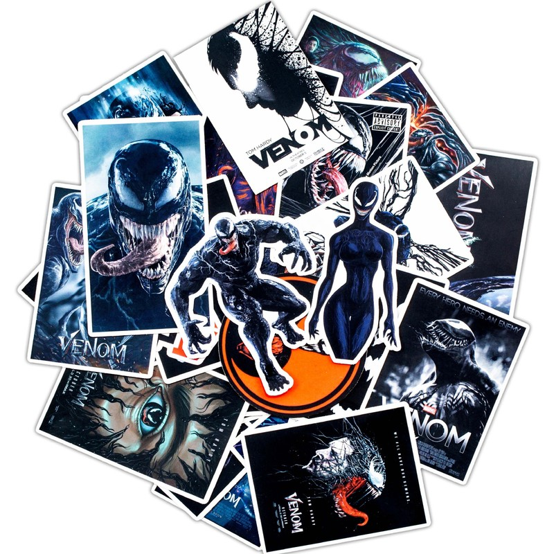 30PCS Pack 2020 New Stickers Set Venom Stickers For Kids Luggage Skateboard Laptop Graffiti Funny Sticker Anime Stickers