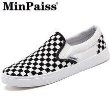 Men Shoes Sneakers Breathable Mens Canvas  -MINPAISS- Low-Tide Student Board