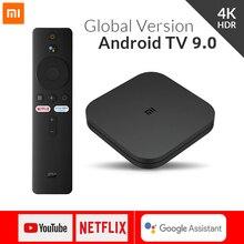 Küresel sürüm Xiaomi Mi TV kutusu S Android 9.0 4K HDR 2G 8G WiFi Google Cast Netflix medya oynatıcı akıllı kontrolü Set üstü kutusu BT4.2