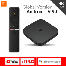 グローバルバージョンxiaomi miテレビボックスのandroid 9.0 4 18k hdr 2グラム8グラムwifi googleキャストnetflixメディアプレーヤースマート制御セットトップボックスBT4.2