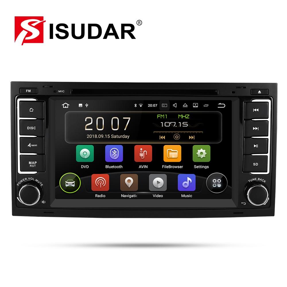 Isudar 9 2 Din Rádio Auto Android Para VW/Volkswagen/Touareg CANBUS Car Multimedia DVD Player GPS navegação DVR USB FM/AM