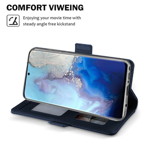 Image 3 - Dành Cho Samsung Galaxy Samsung Galaxy S20 Cực Ốp Lưng Da Cao Cấp Kiểu Ví Tráng Gương Chống Sốc Dùng Cho Samsung S20 Plus Ốp Lưng Thẻ sang Trọng
