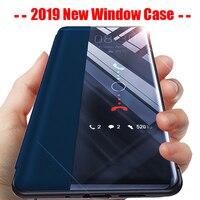 360 Flip Telefoon Case op Voor Huawei Honor 10 Lite 9 Licht 20 Pro 8X Smart Window Back Cover Voor hauwei P30 Lite Hawei P 30 P20 Pro