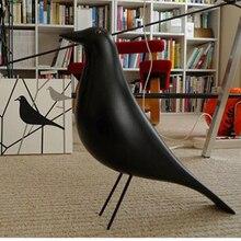 Полимерная Статуэтка птицы, статуэтка, офисные украшения, скульптура, аксессуары для украшения дома, скульптура птицы, Черная