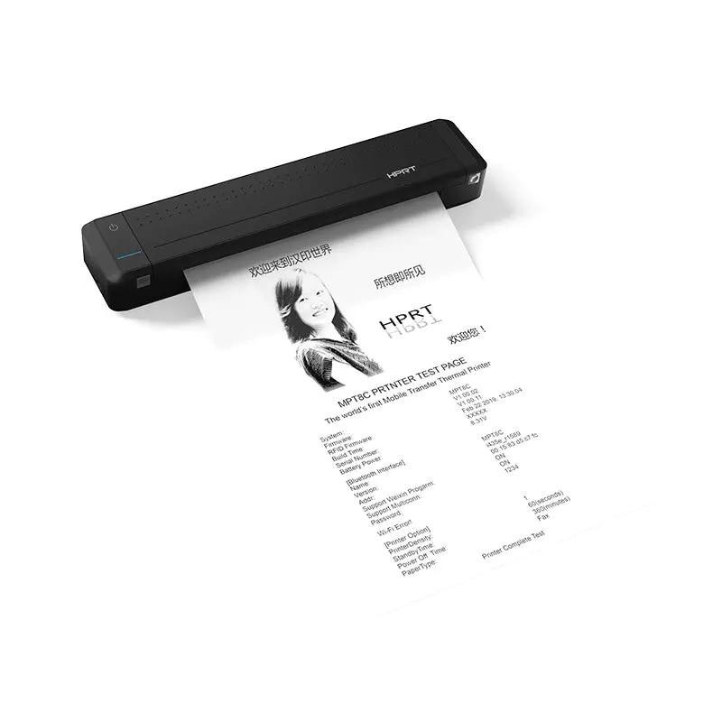 Портативный термопринтер A4, Мини Bluetooth USB принтер для домашнего бизнеса со встроенным аккумулятором для печати в любое время