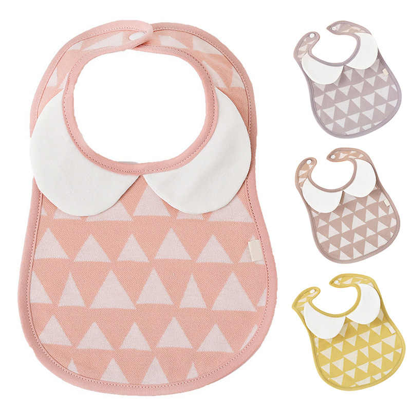 Baby Saliva Towels Cotton Soft Feeding Bibs Waterproof Lunch Feeding Burp Cloths Lovely Geometric Print Unisex Bibs