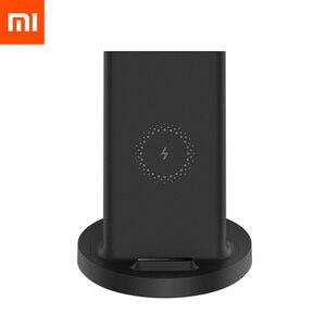Image 1 - Беспроводное зарядное устройство Xiaomi, вертикальное, макс. 20 Вт, с флеш зарядкой, совместимое с Qi, универсальная, безопасная подставка по горизонтали для Mi 9 (20 Вт) MIX 2S
