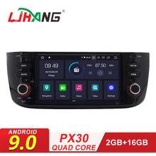 LJHANG 1 DIN Android 9,0 автомобильный радиоприемник стерео для Fiat/Linea/Punto 2012 2013 gps навигация WiFi мультимедийный проигрыватель RDS USB