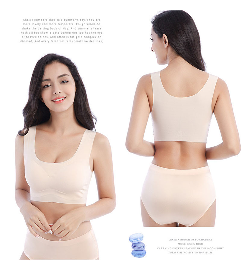 Plus Size Bras For Woman Push Up Seamless Bra Sexy One Piece Lingeries Underwear Women`s Bralette Ultra-thin Brassiere Femme Bra 17