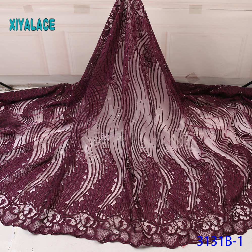 African Lace Fabric Switzerland Lace 2019 High Quality Lace Fabric Nigerian Lace Fabrics French Bridal Lace For Dress YA3131B-1