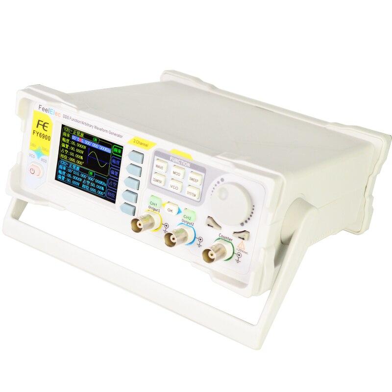 FY6900 60 МГц двухканальный DDS генератор сигналов произвольной формы источник сигнала счетчик частоты полностью числовое управление