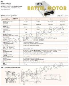 Image 2 - 400W 60V מתג DC אספקת חשמל S 400 60 6.6A יחיד פלט עבור CNC נתב קצף מיל Cut לייזר חרט פלזמה