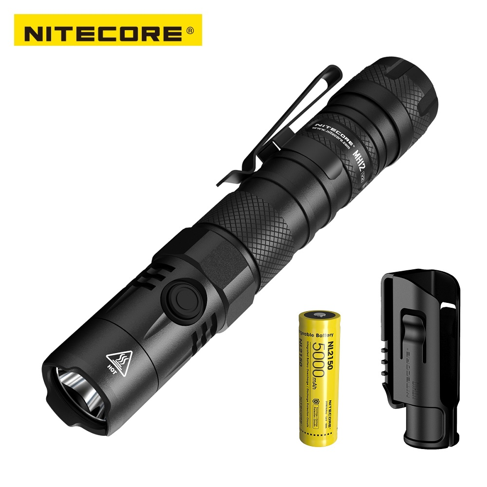 NEW NITECORE MH12 V2 CREE XP-L2 V6 LED 1200 Lumens Rechargeable flashlight for Gear,Military,Outdoor/Camping