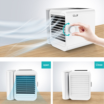 oatsbasf mini usb fan rechargeable internal battery shakeable headhome student dormitory portable mute air cooling fan Portable Mini Air Cooling Fan Home Office Gym Fitness USB Rechargeable Air Cooling Humidifier with Filter Summer Cooling Fan