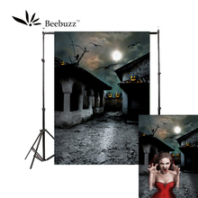 Beebuzz photo backdrop halloween new product silent street background take pictures of parties