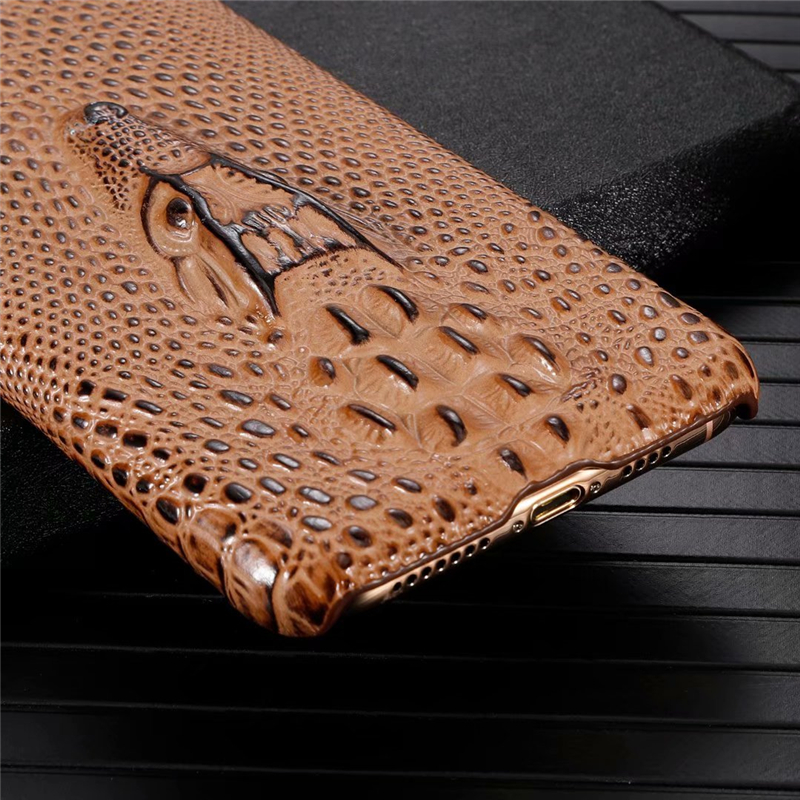 Genuine Leather Cow Hide Stereoscopic 3D Case for iPhone 11/11 Pro/11 Pro Max 24