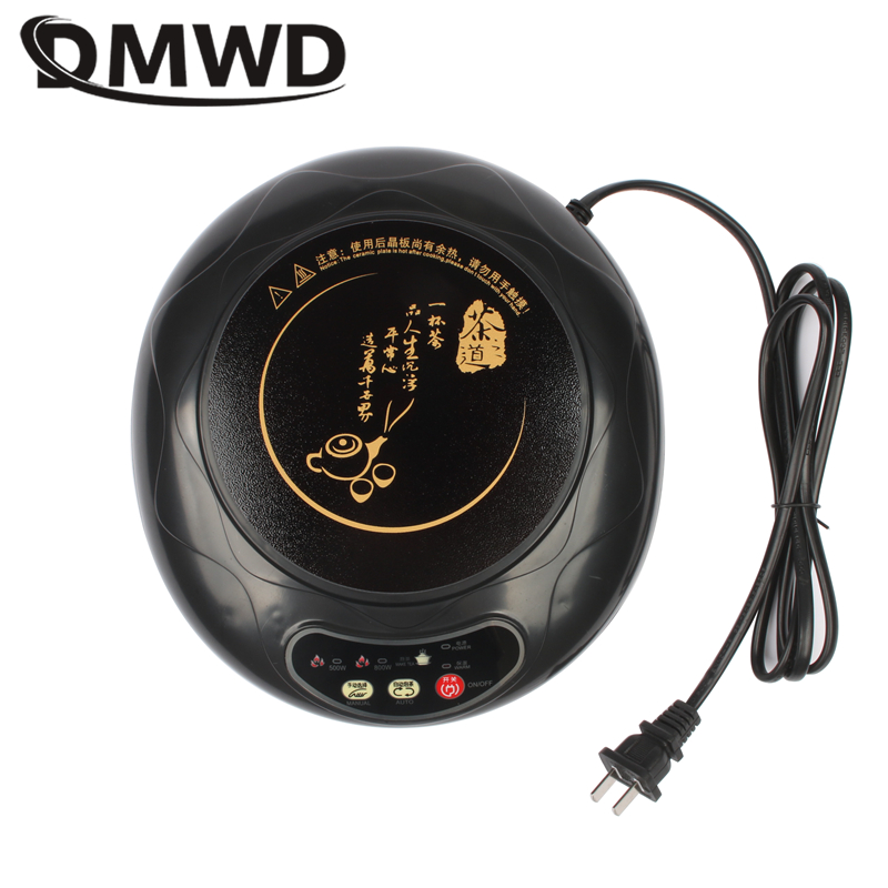 DMWD Mini Electric induction cooker hot pot fast heating milk water coffee heating stove teapot noodle boiler travel cooker 220V