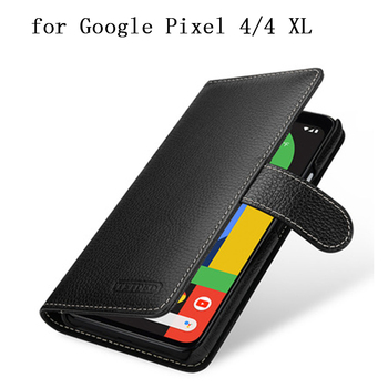 Magnetic Flip Wallet Case for Google Pixel 4 XL Genuine Cow Leather Phone Purse with Card Slots Cover Bag for Google Pixel 4XL