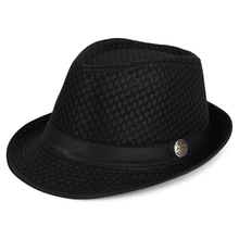 Fedora Hats Mesh Women Summer Adult 58-60cm And 56-58cm Sun-Hat Outdoor Breathable Plus-Size