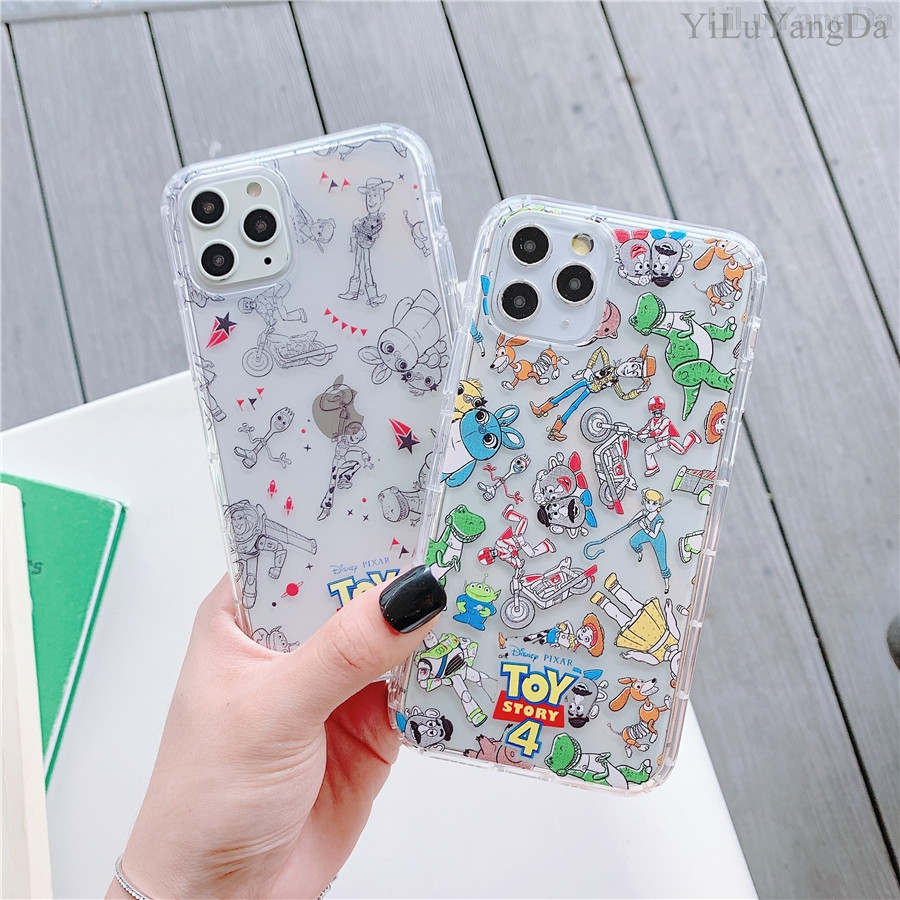 Fashion Cartoon <font><b>Toy</b></font> <font><b>Story</b></font> Phone Case For <font><b>iPhone</b></font> 6 6s 7 8 Plus X <font><b>XR</b></font> XS 11 Pro Max Soft TPU Shockproof Cover <font><b>Coque</b></font> Fundas image