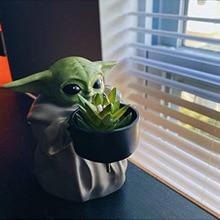 Ornaments Decoration Flower-Pot Mandalorian Christmas Baby Yoda Star-Wars Toys Doll Birthday-Gifts