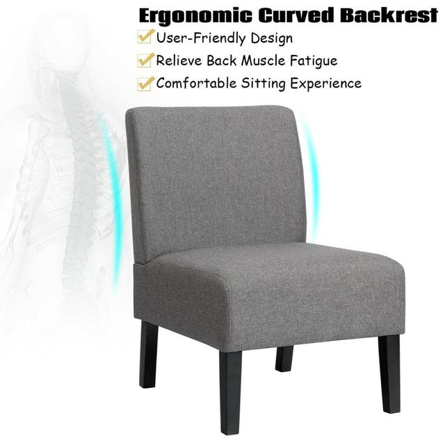 Set of 2 Armless Accent Chair  5