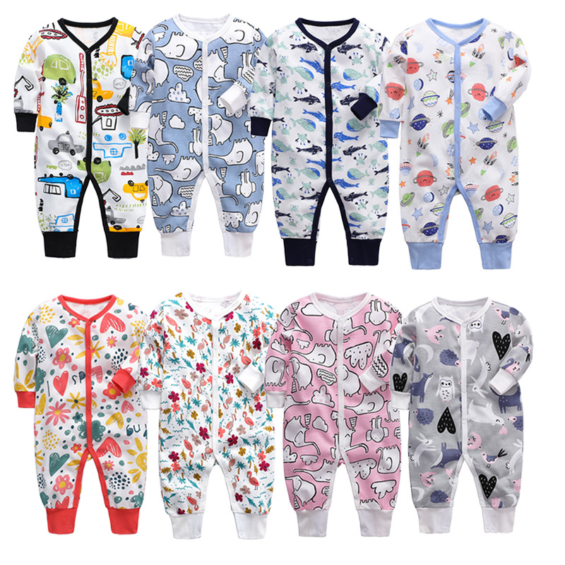 Baby Boy Girl Long Sleeve Sleepsuit Baby Rompers Newborn Baby Clothes Autumn Overalls Girl Clothes 2019 Cartoon Pajamas