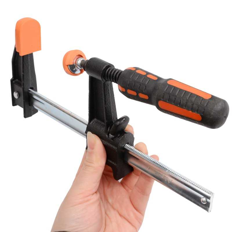 מכירה לוהטת מצמד F מלחציים כבד בר מהדק 12-אינץ מהיר מחגר עץ עבודה הידוק כלי